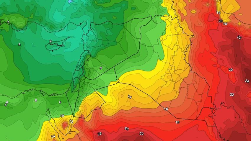 الإثنين | ارتفاع اضافي طفيف على درجات الحرارة مع استمرار الأجواء الباردة
