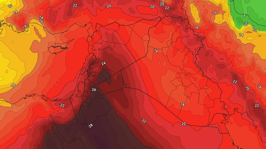 السبت | انخفاض قليل على درجات الحرارة مع بقاء الأجواء حارة ومغبرة على فترات