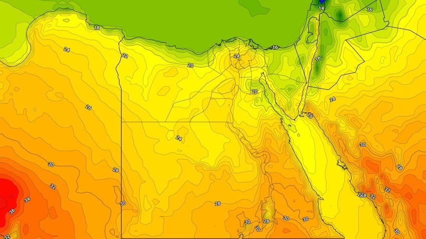 مصر | ارتفاع اضافي على درجات الحرارة الإثنين وأجواء دافئة بشكلٍ عام