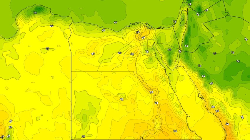 Egypt | Warm and stable weather on Thursday, with fog forming in the north of the country at night