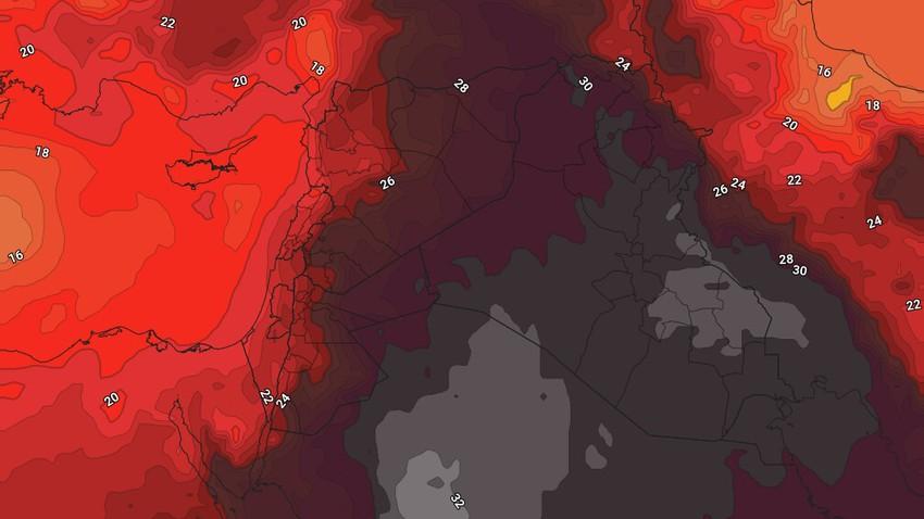 الأحد | مزيد من الإنخفاض في الحرارة وطقس صيفي إعتيادي فوق المرتفعات وحار نسبيًا في بقية المناطق