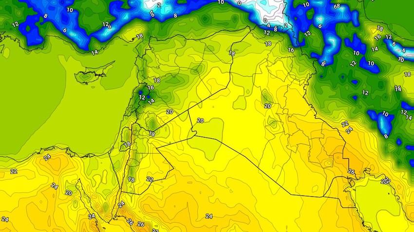 Jordan | Stable spring weather during the weekend