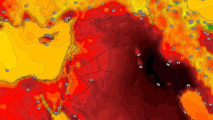 العراق   طقس لاهب الاربعاء وتنبيهات من موجة حارة شديدة تؤثر على المنطقة