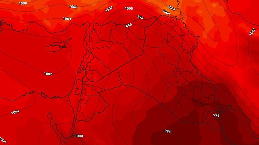 الأثنين | طقس صيفي إعتيادي إلى حار نسبي ببعض المناطق نهاراً لطيف ورطب ليلاً