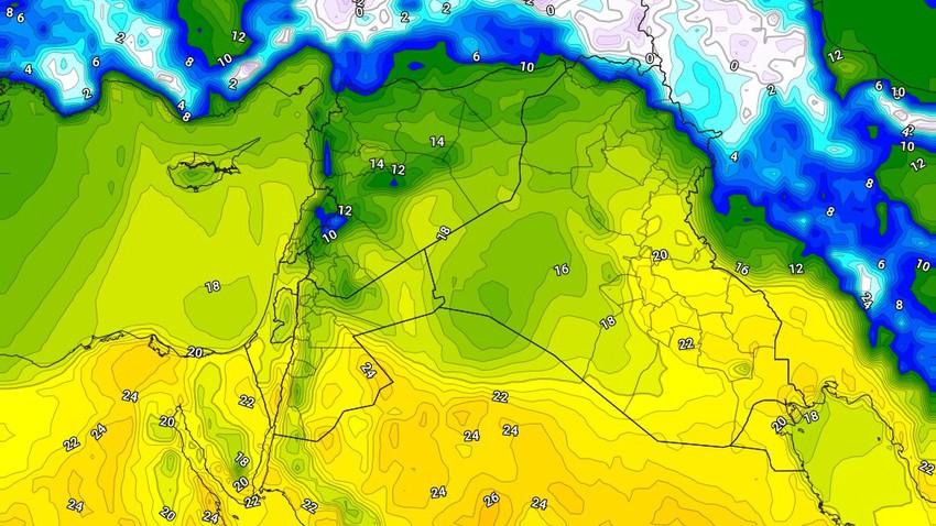 الأربعاء   ارتفاع آخر على درجات الحرارة واجواء تميل للدفء في ساعات الظهر