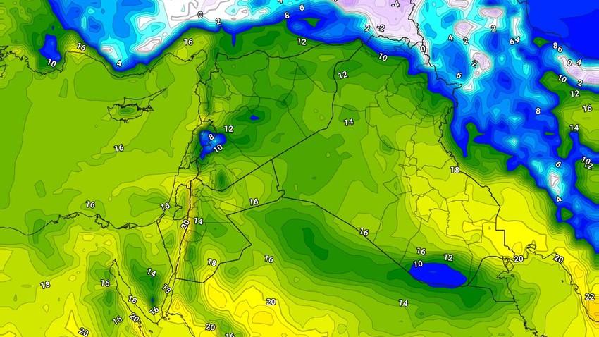 العراق | ارتفاع على درجات الحرارة نهار الثلاثاء وفرصة لهطول زخات من الامطار في بعض الأجزاء ليلاً