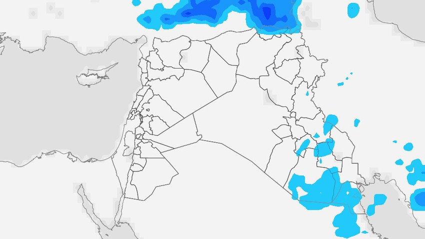 Iraq | A state of air instability on Tuesday and thunderstorms of rain in random areas concentrated in the south of the country