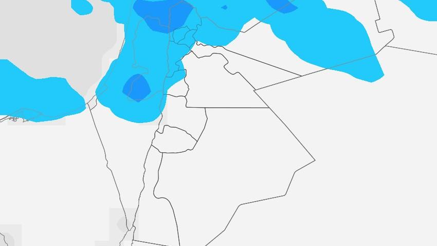 الخميس | انخفاض اضافي على الحرارة مع هطول زخات أمطار في بعض المناطق