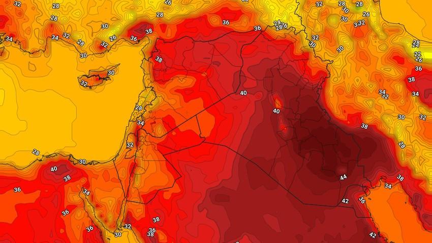 العراق   ارتفاع إضافي مُتوقع على درجات الحرارة خلال نهاية الأسبوع