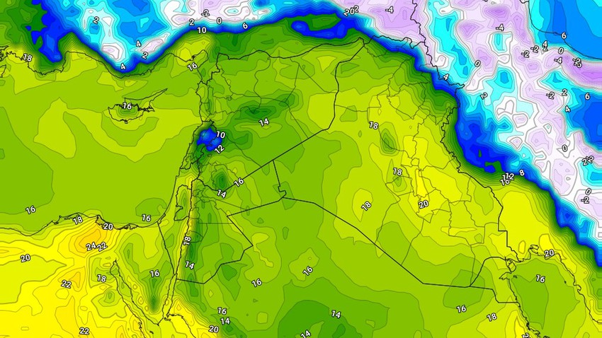Iraq | Rise in the degrees and stability of the atmosphere on Thursday