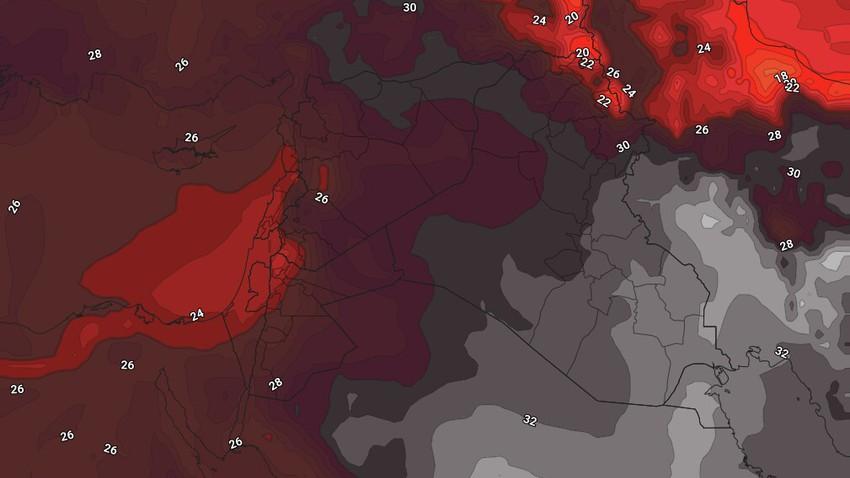 الأردن | إقتراب كتلة هوائية حارة من المملكة الإثنين وارتفاع إضافي قليل على درجات الحرارة