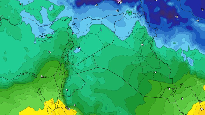 Jordan - Weekend | Cold weather during the day and very cold at night, with the return of the eastern winds