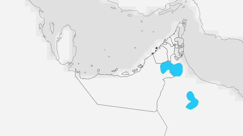 الإمارات   رصد فرصة لزخات رعدية محلية من الأمطار على اجزاء من المناطق الجنوبية الجمعة