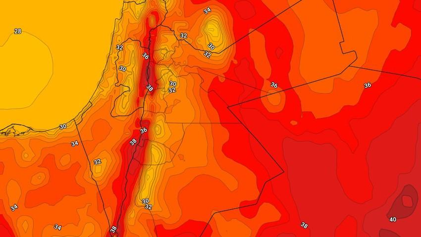 الأردن | تستمر درجات الحرارة حول مُعدلاتها لمثل هذا الوقت من العام يوم الإثنين