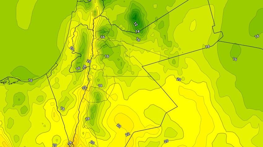 الثلاثاء | ارتفاع على درجات الحرارة واجواء باردة نسبياً تميل للدفء في بعض المناطق
