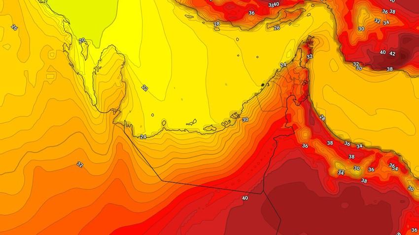 طقس الإمارات | انخفاض على درجات الحرارة الأحد مع ظهور السُحب العالية