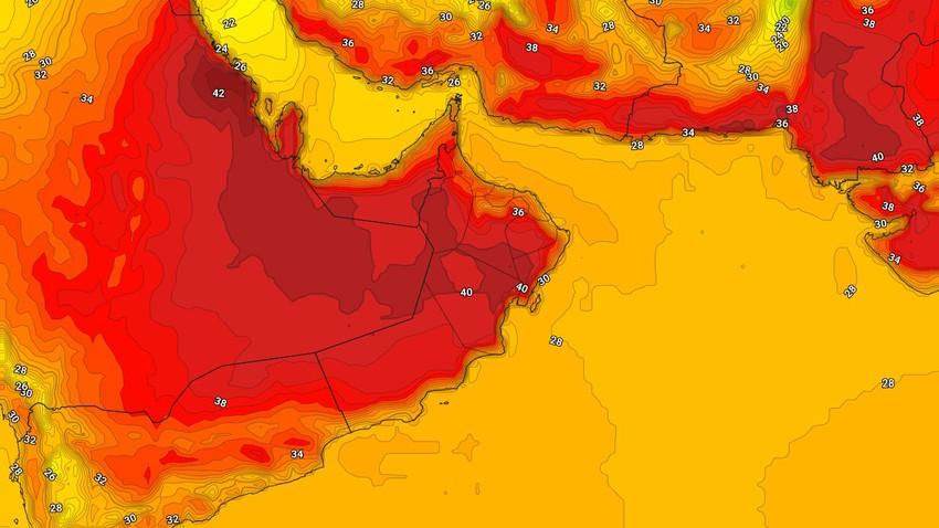 عُمان | كتلة هوائية حارة إلى شديدة الحرارة تؤثر على السلطنة الجمعة