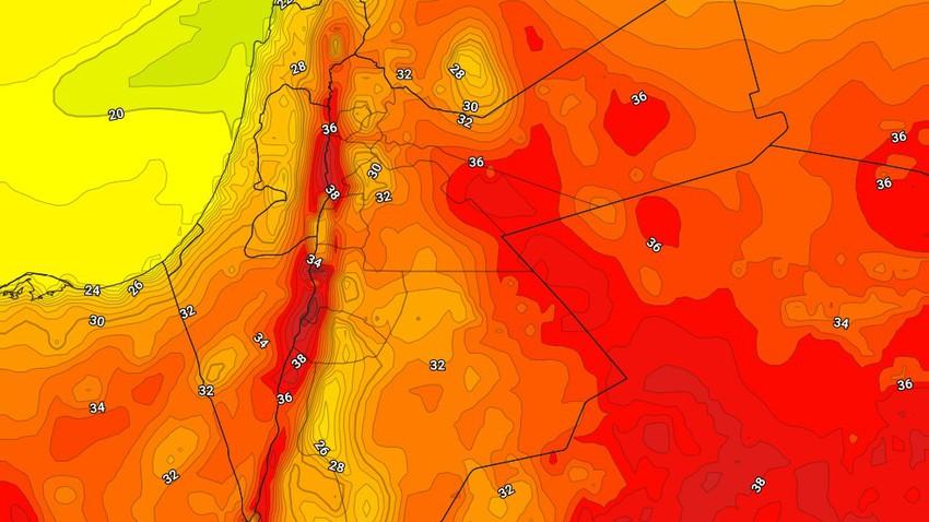 الأردن | انخفاض على درجات الحرارة الإثنين وزخات رعدية من الأمطار في مناطق عشوائية تتركز في البادية الجنوبية