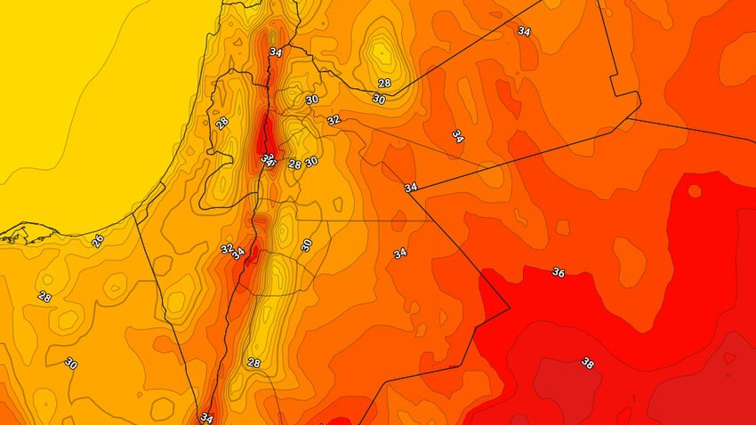 Jordan | Relatively hot weather in most areas Thursday with the appearance of clouds at medium and high altitudes