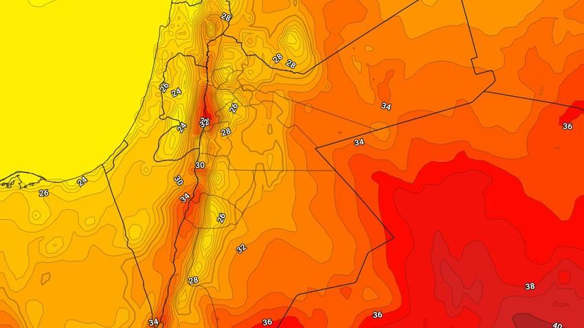 الأردن | ارتفاع قليل على درجات الحرارة الخميس مع بقاء الطقس صيفياً مُعتدلاً