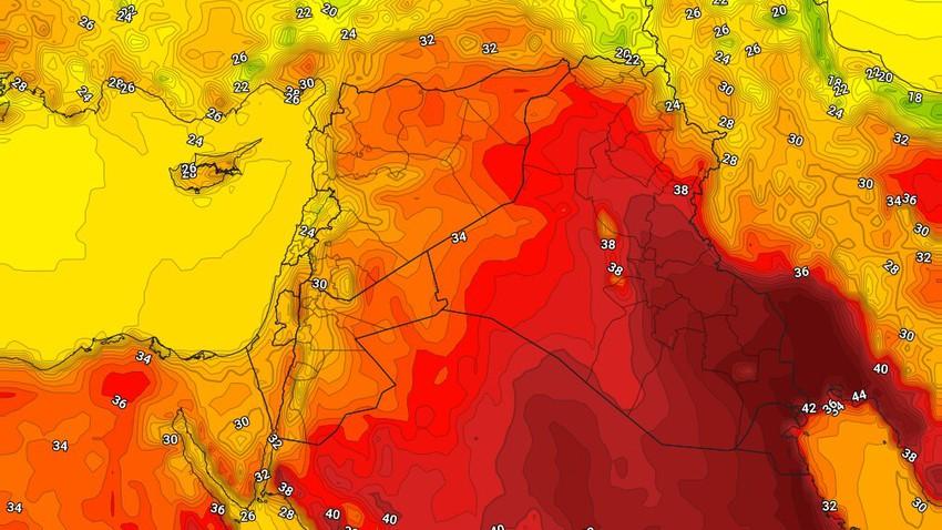 العراق | ارتفاع قليل على درجات الحرارة الثلاثاء واشتداد على سرعة رياح البوارح