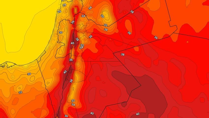 الأردن | ارتفاع على درجات الحرارة الأحد وطقس حار نسبياً في أغلب مناطق المملكة