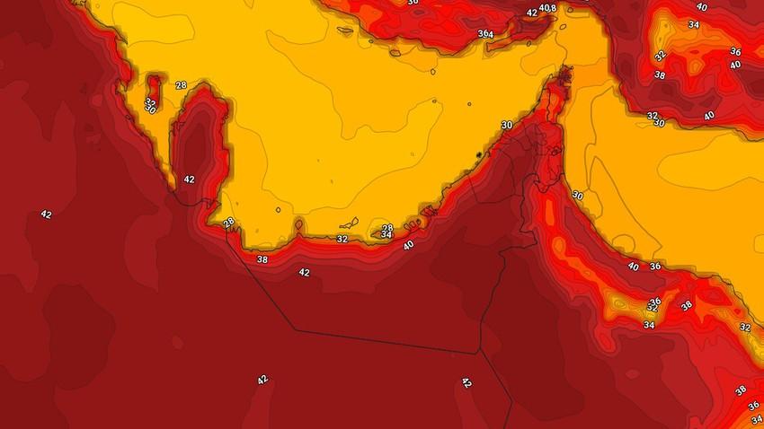 الإمارات | درجات حرارة اقل من مُعدلاتها الاربعاء مع نشاط للرياح الشمالية الغربية