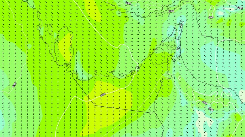 Emirates   Hot to very hot weather, intense winds of Al-Baarih, and a warning of raised dust