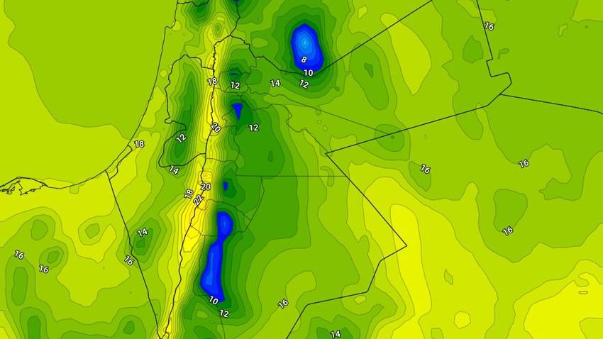 السبت | استمرار الأجواء الباردة نسبياً مع فرصة ضعيفة لزخات من الامطار في شمال المملكة