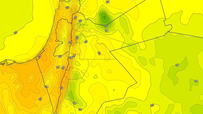 الثلاثاء | درجات حرارة قياسية مُتوقعة تصل إلى 30 درجة في الأغوار والبحرالميت والعقبة