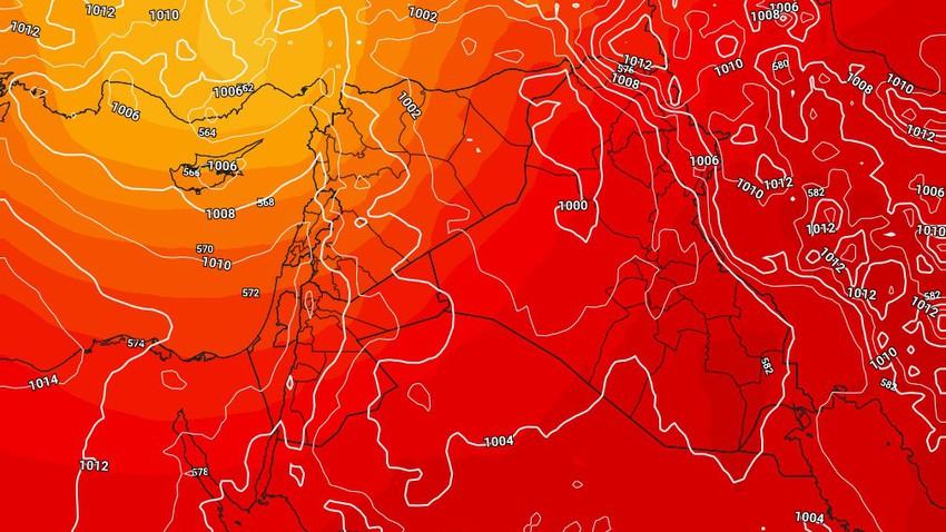 العراق | مُنخفض جوي خماسيني يتسبب بتعمق الكتلة الهوائية الحارة وهبوب الرياح القوية الإثنين