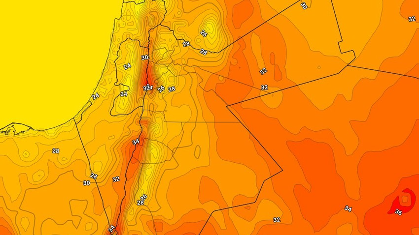 Jordan   A slight rise in temperatures Thursday, with the weather remaining cold during the night hours ساعات
