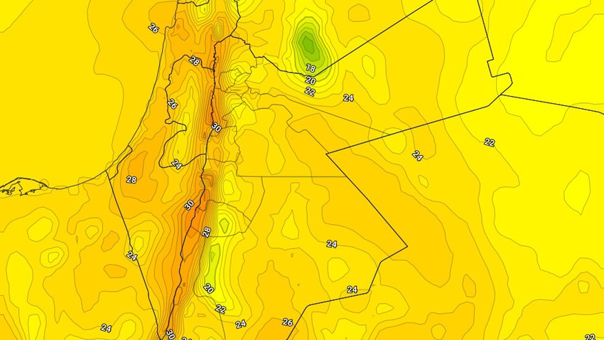 Saturday | A slight rise in temperatures with the emergence of a gradual state of instability