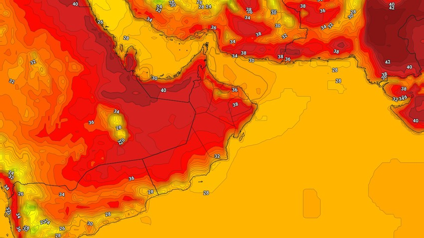 Oman | A slight drop in temperatures on Monday and the continued chances of thunderstorms in some areas