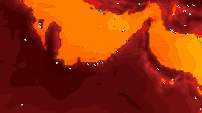الإمارات | طقس شديد الحرارة الإثنين واستمرار فرص الأمطار الخفيفة على اجزاء محدودة