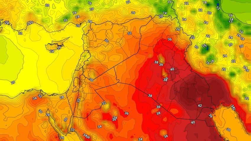 العراق | انخفاض قليل على درجات الحرارة الثلاثاء وسُحب رعدية على مناطق عشوائية تترافق بالرياح الهابطة