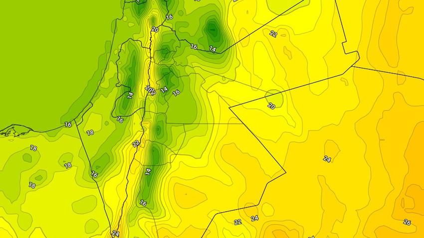 الإثنين | انخفاض على درجات الحرارة مع بقاء الاجواء دافئة ومُستقرة
