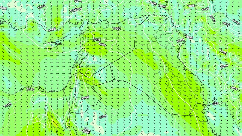Iraq   Active winds and dusty weather today and the coming days, and alerts for respiratory and eye patients