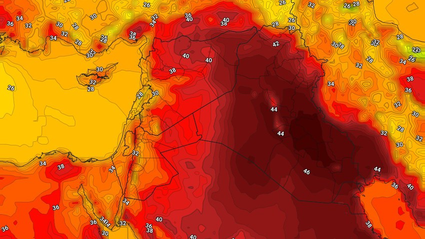العراق | إرتفاع مُتوقع على درجات الحرارة مع رياح نشطة وطقس مُغبر في بعض المناطق الإثنين