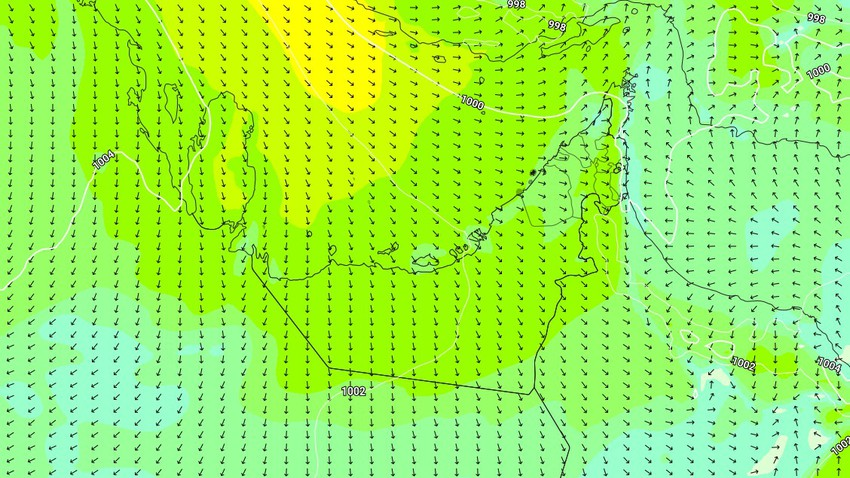 Emirates | Active winds and turbulent waves in some areas on Sunday