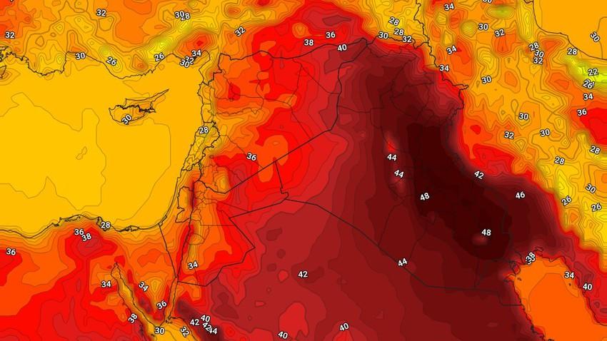 العراق | بقاء درجات الحرارة أعلى من مُعدلاتها مع طقس شديد الحرارة الإثنين