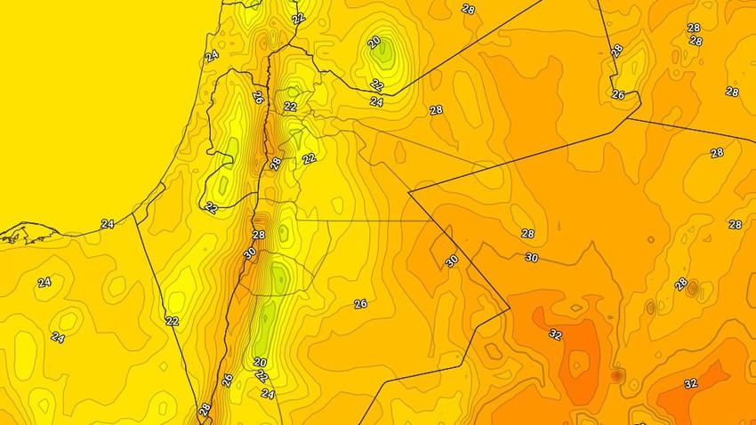 الأثنين | انخفاض اضافي على درجات الحرارة واستمرار تأثير حالة من عدم الاستقرار لكن بوتيرة أقل