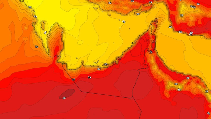 Emirates | Hot Thursday weather with gradual clouds of clouds