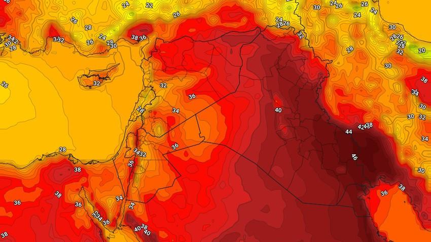العراق   درجات حرارة حول لإقل من مُعدلاتها الإثنين مع نشاط للرياح الشمالية الغربية