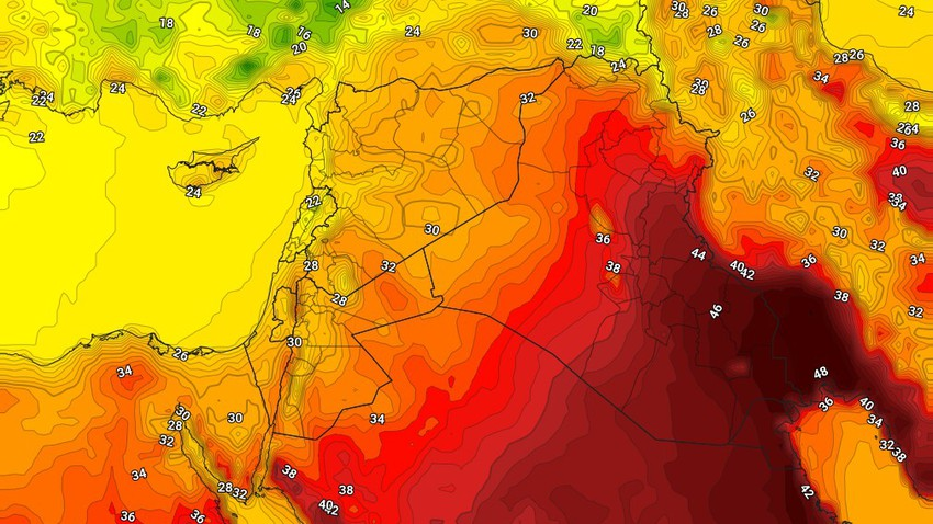 الكويت | ارتفاع على درجات الحرارة الأربعاء واستمرار الاجواء المُغبرة