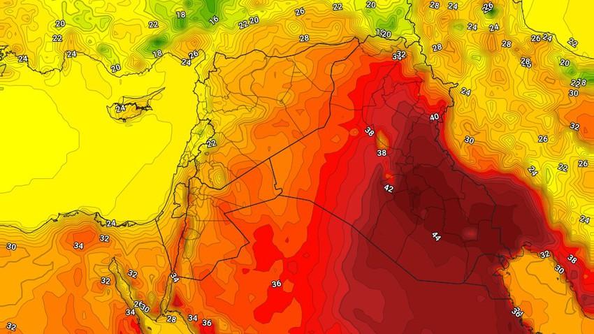 العراق | حالة الطقس المُتوقعة في العراق يوم الإثنين 17/5/2021