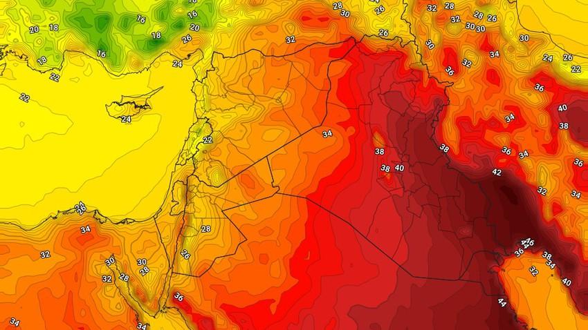 العراق | انخفاض على درجات الحرارة الأربعاء مع نشاط للرياح الشمالية الغربية المُثيرة للأتربة