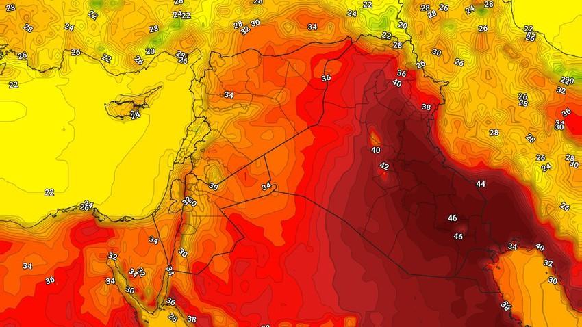 العراق |ارتفاع إضافي على درجات الحرارة الجمعة