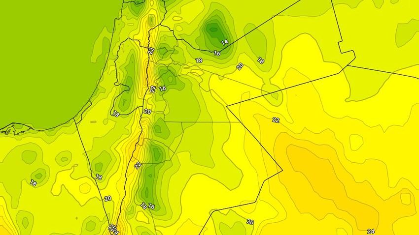 السبت | انخفاض طفيف على درجات الحرارة مع بقاء الاجواء دافئة