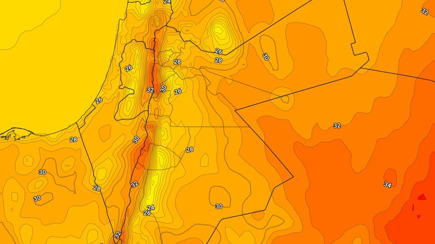 Jordan   Temperatures remain below their average and mild autumn weather in the mountains on Wednesday